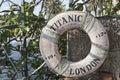 Titanic ship life buoy Royalty Free Stock Photo