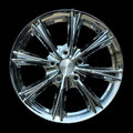 Titanium crhome car rim texture isolated Royalty Free Stock Images