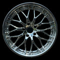 Titanium crhome car rim texture isolated Stock Photo
