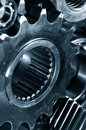 Titanium gear machinery Royalty Free Stock Photos