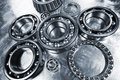 Titanium and steel ball-bearings, pinions Royalty Free Stock Photo