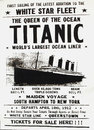 Titantic poster titanic in cobh the last port of call for rms county cork Stock Image