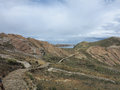 Titicaca lake bolivia view of border of and peru Royalty Free Stock Photography