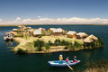 Titicaca lake, Peru, floating islands Uros Stock Image