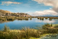 Titicaca voyage at lake in peru Royalty Free Stock Image