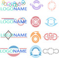 Titles logos decorated and creative for your company or product Stock Photos