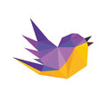 Titmouse In Polygonal Style Art