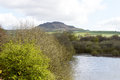 Tittesworth resevoir in the peak district with roaches visible background Royalty Free Stock Photos