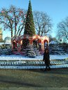 Tivoli denmark in winter on Royalty Free Stock Photo