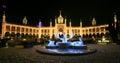 Tivoli Garden, Swan Palace at night of New Year Royalty Free Stock Photo