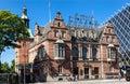Tivoli gardens copenhaguen the facade of brick building with a copper tower in denmark Stock Photography