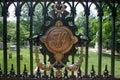 Tj symbol for thomas jefferson in the monticello graveyard monticello charlottesville virginia Stock Image