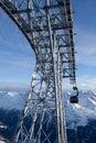 Téléphérique dans les alpes Image libre de droits