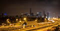 Tlv highway at night Royalty Free Stock Photo