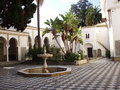 To algiers courtyard the of a castle style buildings and the pool part Royalty Free Stock Photo