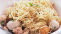 To clenching the egg noodle menu ready to eat photo extra close Royalty Free Stock Photo