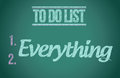 To do everything to do list illustration design graphic Stock Images