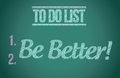 To do list be better concept illustration design graphic Stock Photo