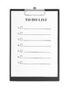 To Do List and Clipboard Royalty Free Stock Photography