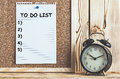 To Do List On Cork Board Royalty Free Stock Photo