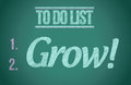 To do list grow concept illustration design graphic Royalty Free Stock Photos