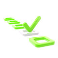To do list, tick in green check box Royalty Free Stock Image
