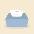 To do list on tissue box Royalty Free Stock Image