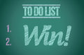 To do list win concept illustration design over white Stock Photography