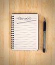 To do list on the wooden table Royalty Free Stock Photography