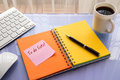 To do lists word on reminder notepad Royalty Free Stock Photo