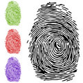 To finger-print Royalty Free Stock Photos
