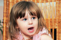 To the girl two years. Royalty Free Stock Photography