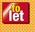 To let for sale sign Royalty Free Stock Photo