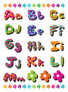 A to M polka dots alphabets Royalty Free Stock Image