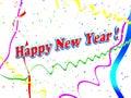 Tło nowy rok szczęśliwy wakacyjny Obraz Royalty Free