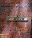 To the parish office sign Royalty Free Stock Image