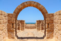To the sea ancient arch Stock Photography