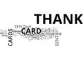 When To Send Thank You Cards Word Cloud