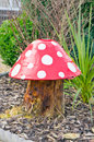 Toadstool a model in a garden Royalty Free Stock Photos