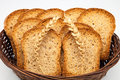 Toast basket with two wheat ears Stock Images