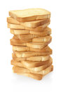 Toast bread pile Royalty Free Stock Photo