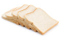 Toast bread slices isolated Royalty Free Stock Photo