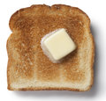 Toast and butter warm with melting Royalty Free Stock Photos