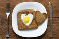 Toast with egg Royalty Free Stock Photo