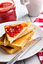 Toast with jam Royalty Free Stock Photo