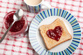 Toast and jam Stock Photography