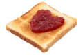 Toast with jam Royalty Free Stock Photo