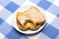 Toast with peanut butter Royalty Free Stock Photo