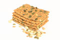 Toast with seeds is full of healthy elements Royalty Free Stock Images