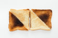 Toast slices of half burnt Stock Photography